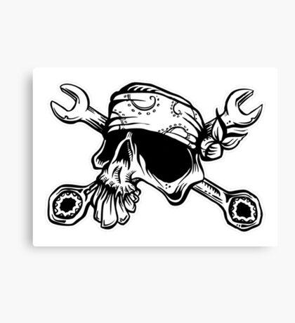 El Mecanico Skull Canvas Print