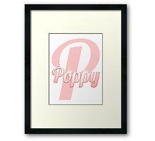 Baby Poppy is a Superstar Framed Print