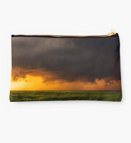 Tornadic Thunderstorm Sunset Studio Pouch