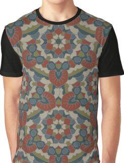Pattern of symmetrical circular mandalas Graphic T-Shirt