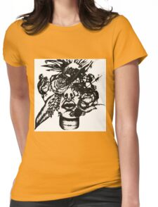 Flower face #3 Womens Fitted T-Shirt