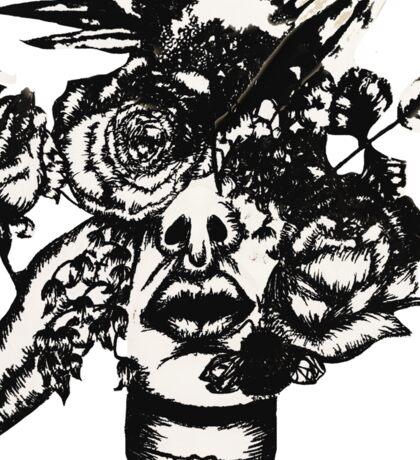 Flower face #3 Sticker