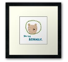 Bearable Bear Framed Print
