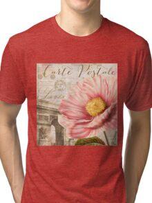 Bonjour Peony Tri-blend T-Shirt