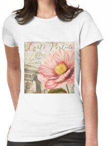 Bonjour Peony Womens Fitted T-Shirt