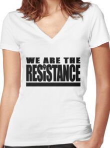 100 Days of Resistance Michael Moore March T Shirts Women's Fitted V-Neck T-Shirt