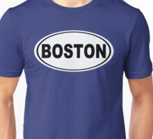Boston Massachusetts Oval Design Unisex T-Shirt
