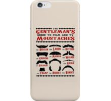 The Gentleman's Guide To Film & TV Moustaches iPhone Case/Skin