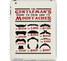The Gentleman's Guide To Film & TV Moustaches iPad Case/Skin