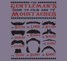 The Gentleman's Guide To Film & TV Moustaches Kids Tee