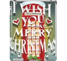 Christmas Card with English Cabin iPad Case/Skin