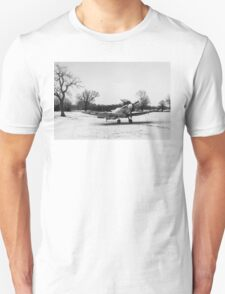 Spitfire in the snow black and white version T-Shirt