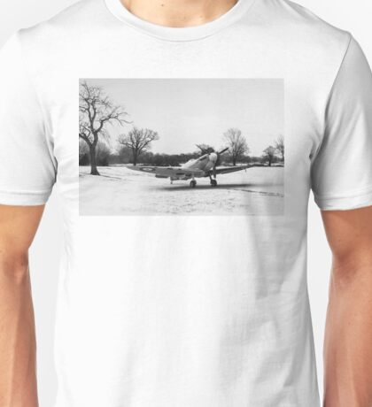 Spitfire in the snow black and white version Unisex T-Shirt