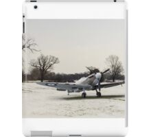 Spitfire in the snow iPad Case/Skin
