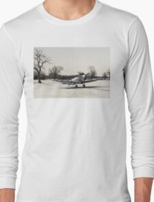 Spitfire in the snow Long Sleeve T-Shirt