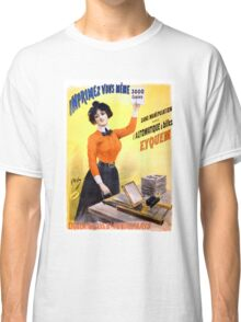 French Vintage Advertising Poster Restored Classic T-Shirt