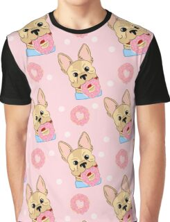 Sweet puppy with donuts. Graphic T-Shirt