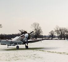 Spitfires in the snow by Gary Eason + Flight Artworks
