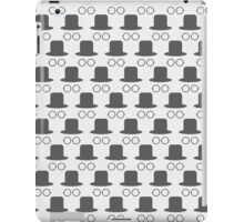 Hat and glasses seamless iPad Case/Skin