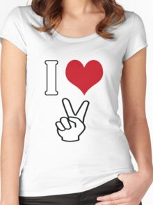 I Love Peace Women's Fitted Scoop T-Shirt