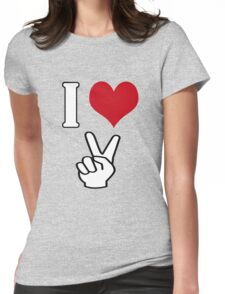 I Love Peace Womens Fitted T-Shirt