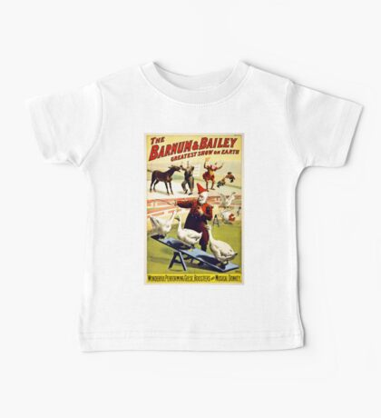 Barnum and Bailey  Circus Geese and musical donkey Baby Tee
