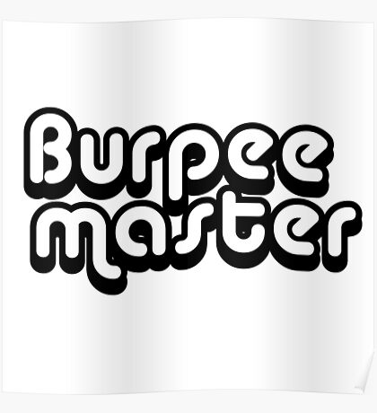 Burpee Master Poster