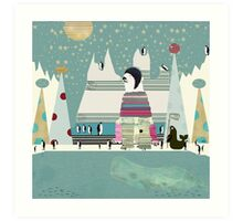 Arctic circle Art Print