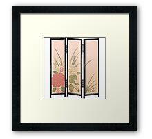 Glitch furniture largefrontfloordeco flower screen  Framed Print