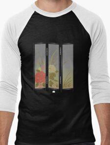 Glitch furniture largefrontfloordeco flower screen  Men's Baseball ¾ T-Shirt