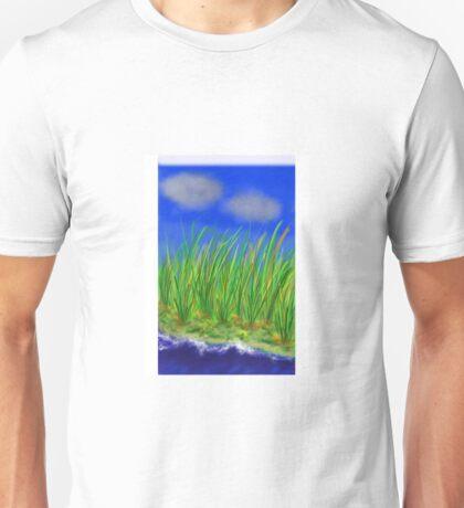 Tall grass on the water Unisex T-Shirt