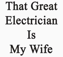 That Great Electrician Is My Wife  by supernova23