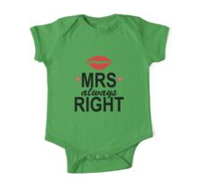 MRS RIGHT One Piece - Short Sleeve