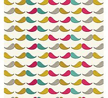 Mustache seamless vintage style Photographic Print