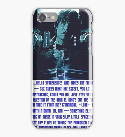 Doctor Who Pandorica Opens (Speech) iPhone Case/Skin