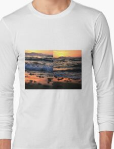 Evening Waves - Nature Photography Long Sleeve T-Shirt
