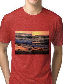Evening Waves - Nature Photography Tri-blend T-Shirt