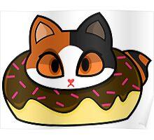 Japanese Bobtail Donut Cat Poster
