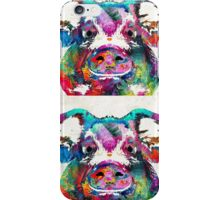 Colorful Pig Art - Squeal Appeal - By Sharon Cummings iPhone Case/Skin