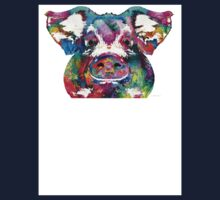 Colorful Pig Art - Squeal Appeal - By Sharon Cummings Kids Clothes