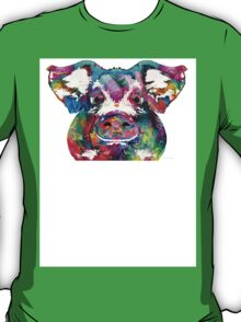 Colorful Pig Art - Squeal Appeal - By Sharon Cummings T-Shirt