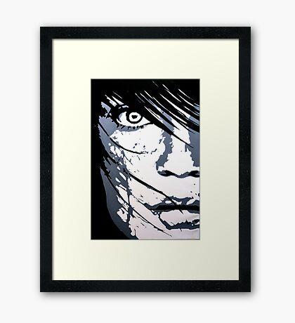 Face 01 Framed Print