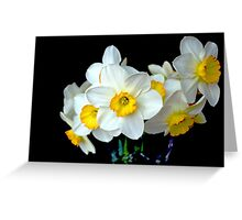 Daffodils In a Vase Greeting Card