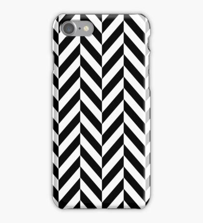 Black & White Herringbone iPhone Case/Skin