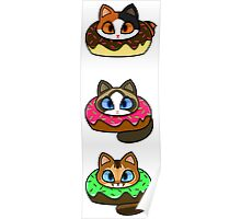 Donut Cats Set #2 Poster