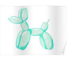 Teal Animal Balloon  Poster
