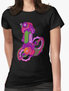 The World's Most Famous 70's Derailleur, One Cool Cat Womens Fitted T-Shirt