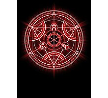 Human Transmutation Circle - Red Photographic Print