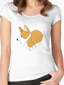 Heart Corgi Women's Fitted Scoop T-Shirt