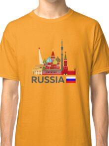 Russia, Moscow skyline. Kremlin Classic T-Shirt